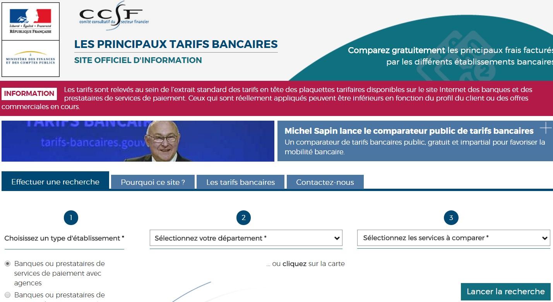 LANCEMENT D'UN COMPARATEUR DE TARIFS BANCAIRES